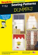1152 Simplicity Pattern: Window Treatments